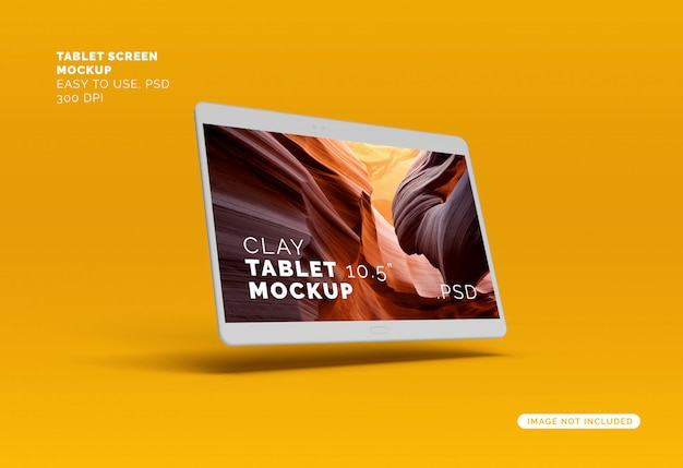 Mock-up schermo volante clay tablet