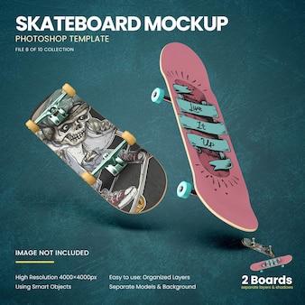 Mockup di skateboard volanti