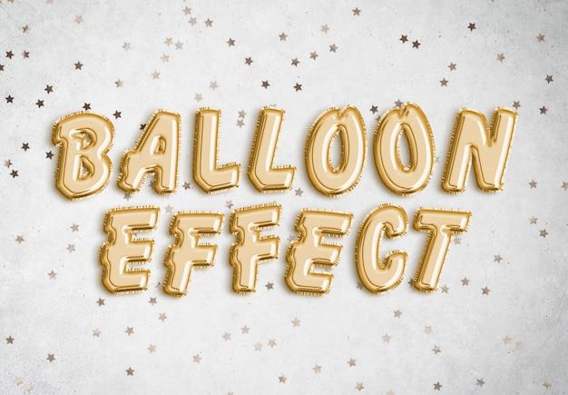 Foil balloon text effect Psd Premium