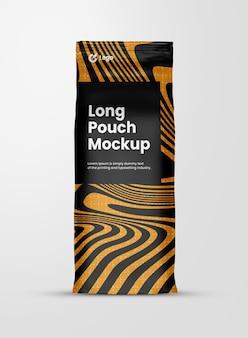 Mockup di imballaggio per buste di caffè in carta stagnola