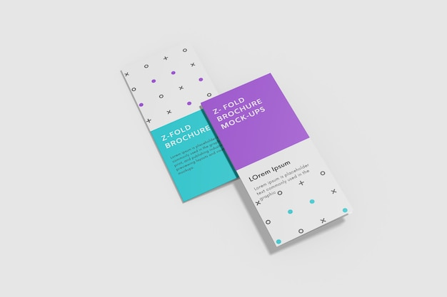 Fold brochure mockup design isolato