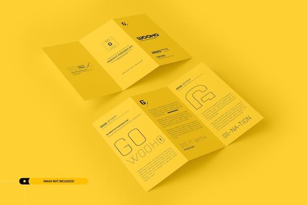 Brochure pieghevole mockup