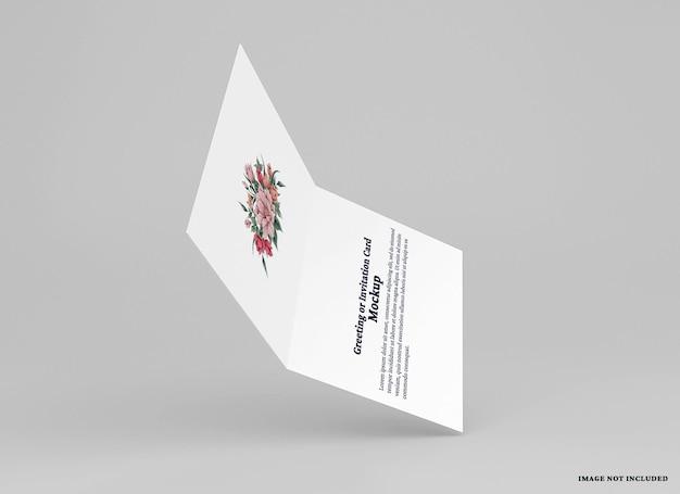 Modello di biglietto di auguri piegato