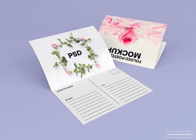 Cartolina piegata, mockup di carta di invito