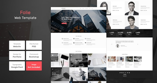 Folie web template