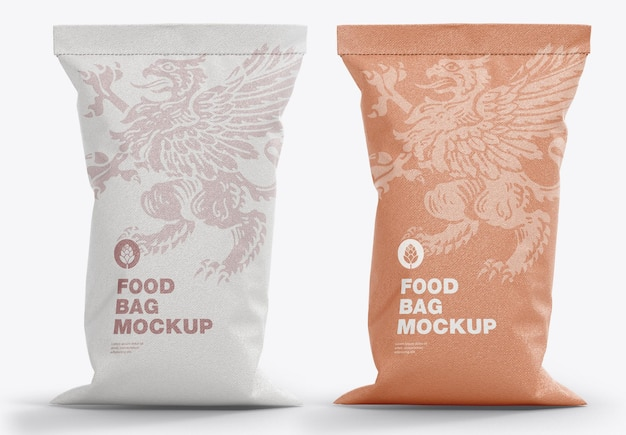 Mockup di sacchetti di cibo