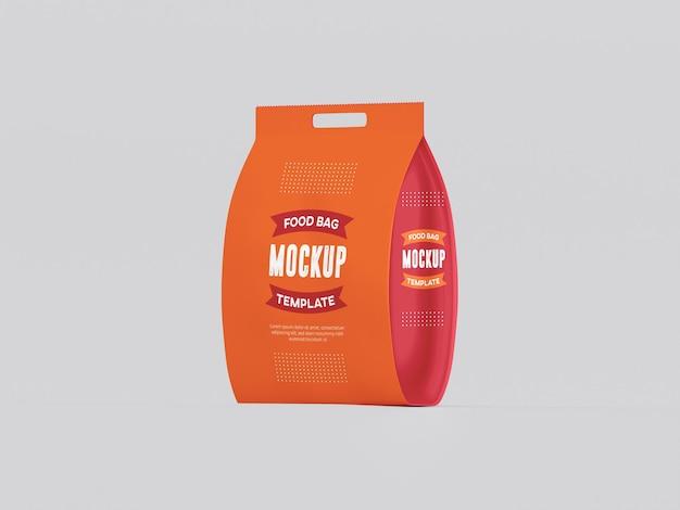 Mockup di imballaggio per sacchetti di cibo