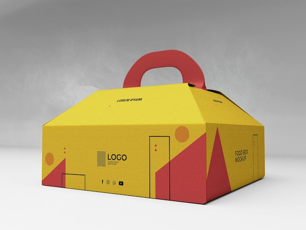 Food box mockup 3d realistico
