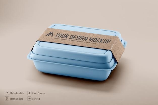 Mockup di scatola di cibo isolato