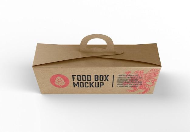 Mockup di scatola di cibo