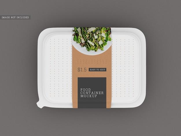 Mockup di confezionamento di scatole per alimenti