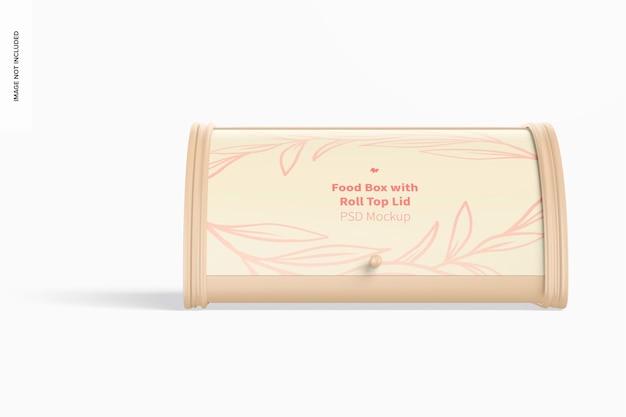 Scatola per alimenti con coperchio arrotolabile mockup