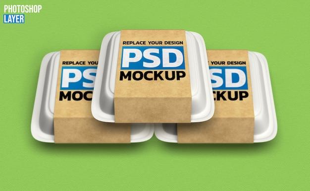 Mockup di scatole di cibo