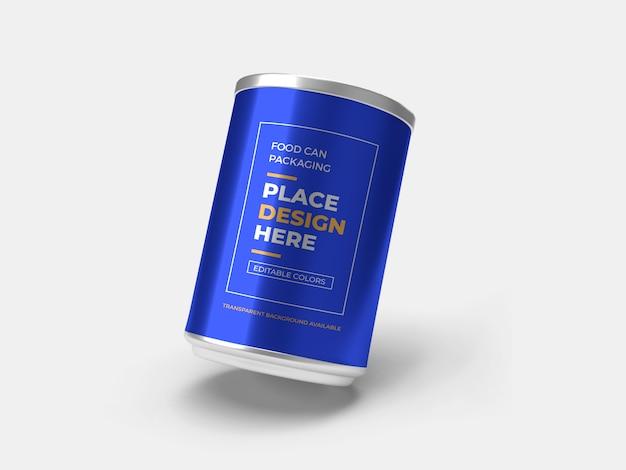 Il cibo può packaging design mockup isolato