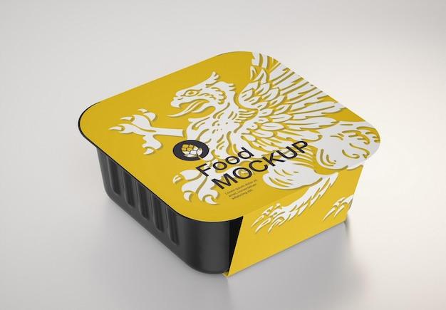 Design mockup di contenitori per alimenti
