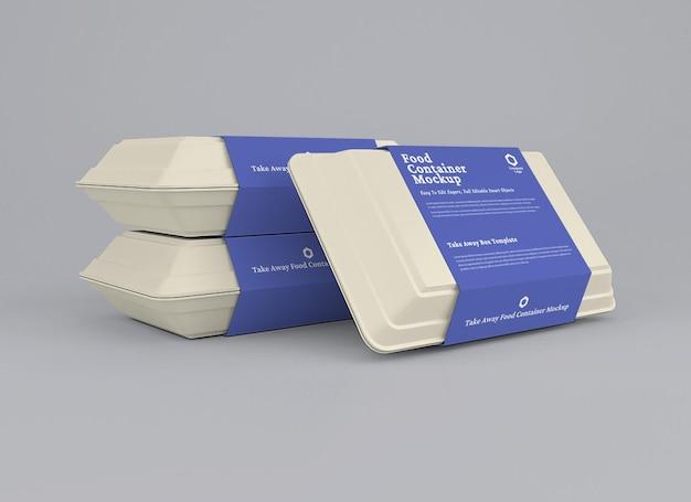 Modello di pacchetto di contenitori per alimenti
