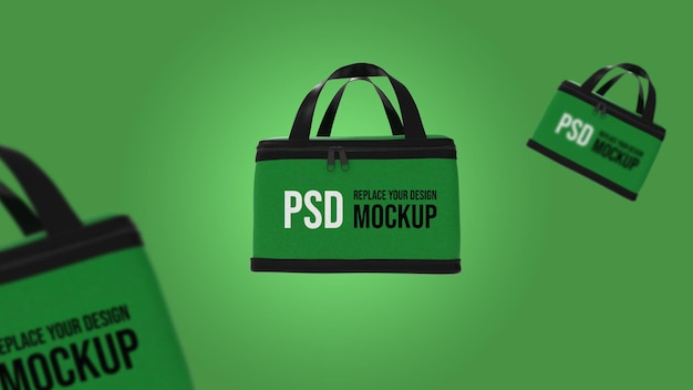 Scatola di consegna cibo 3d rendering mockup design