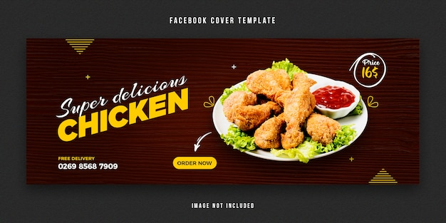 Modello di copertina di facebook alimentare