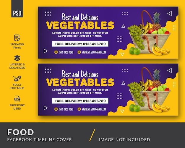 Copertina facebook del cibo