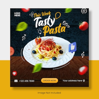 Banner modello post instagram cibo