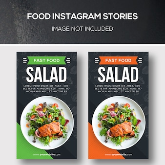 Storie di instagram di cibo