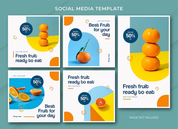 Modello di bundle post instagram di vendita di cibo di capodanno