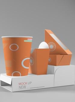 Mockup di pacco alimentare
