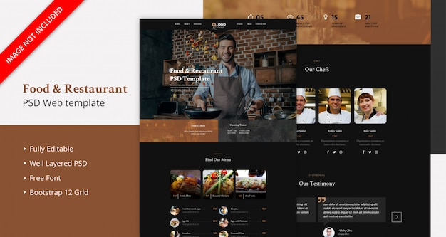 Pagina di destinazione food & restaurant