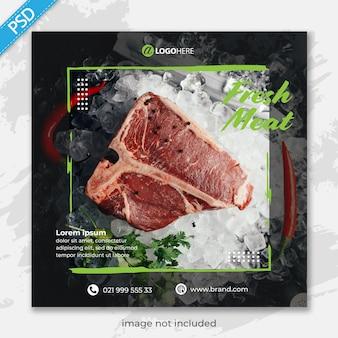 Ristorante alimentare per social media instagram post banner template premium