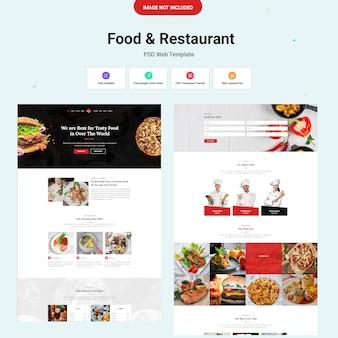 Modello web di cibo e ristorante