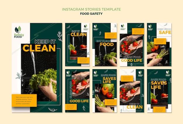 Modello di progettazione di storie insta sulla sicurezza alimentare