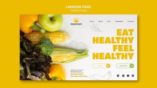 Progettazione del modello di pagina di destinazione per la sicurezza alimentare