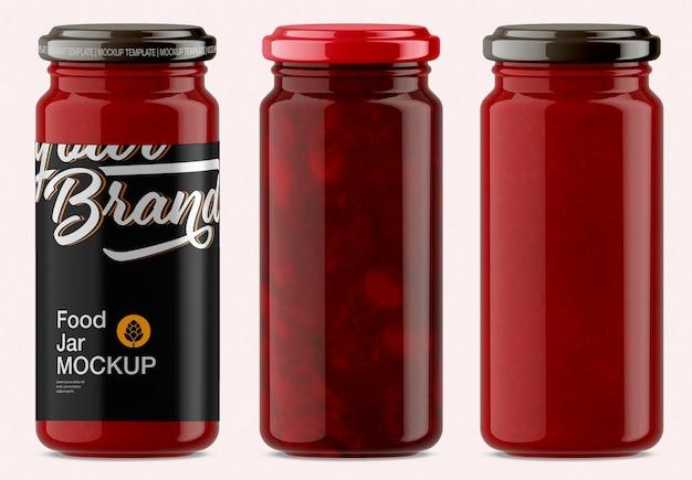 Design mockup barattolo salsa alimentare isolato