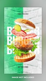 Storie di cibo post sui social media e storia di instagram