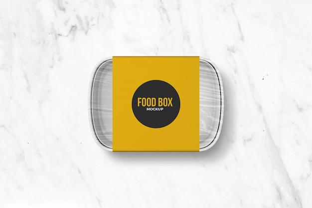 Mockup di scatola da asporto alimentare