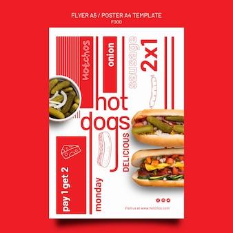 Modello di poster e volantino modello di cibo