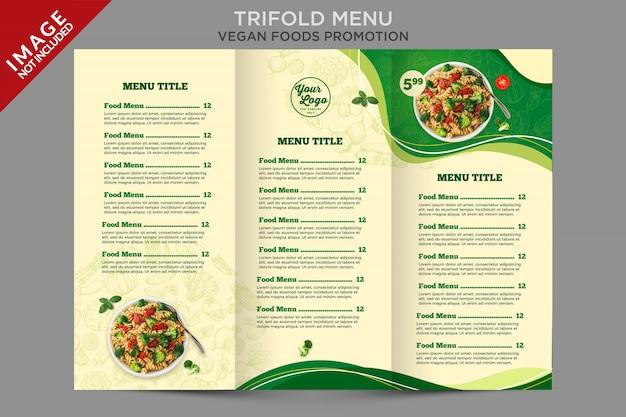 Modello di promozione del menu a tre ante di cibo Psd Premium