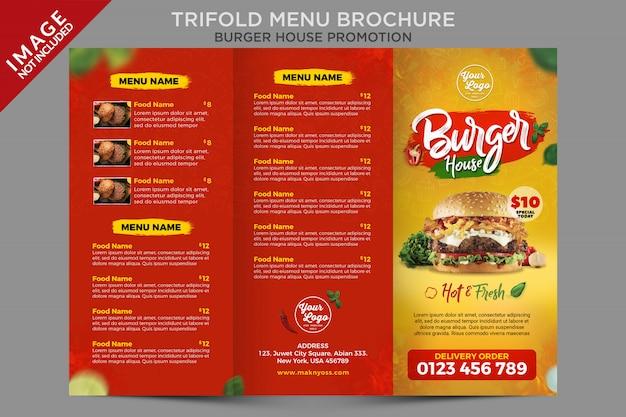 Modello di promozione del menu a tre ante di cibo