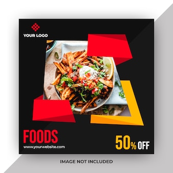 Modello di post web alimentare