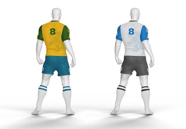 Mockup della maglietta del kit da calcio