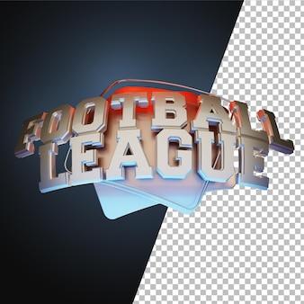Tipografia 3d della lega di calcio di calcio