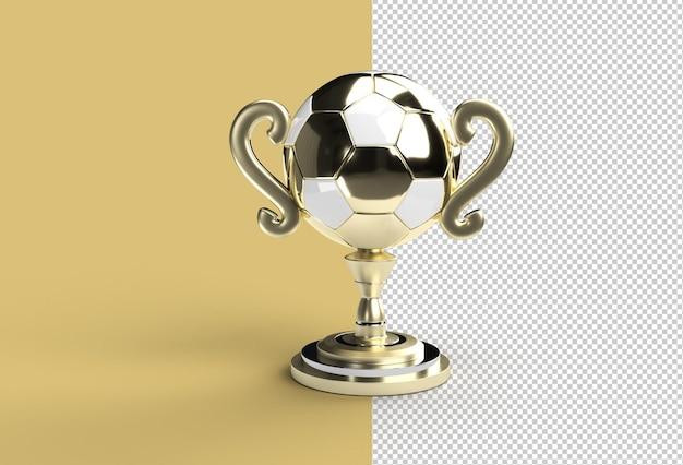 File psd trasparente della coppa del trofeo di calcio.