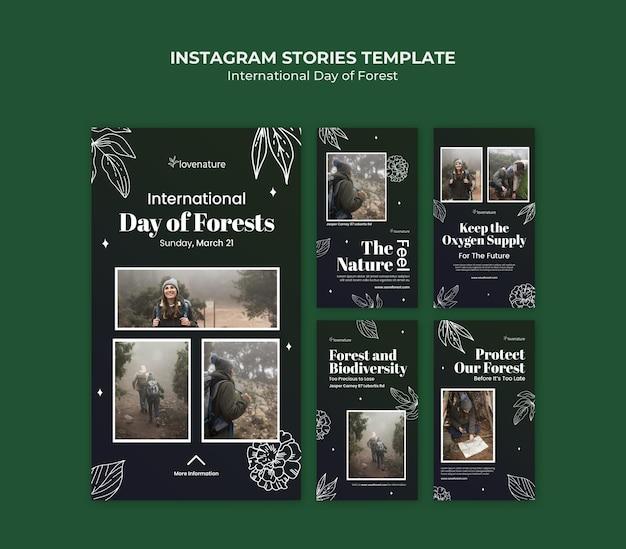 Storie di social media della giornata della foresta