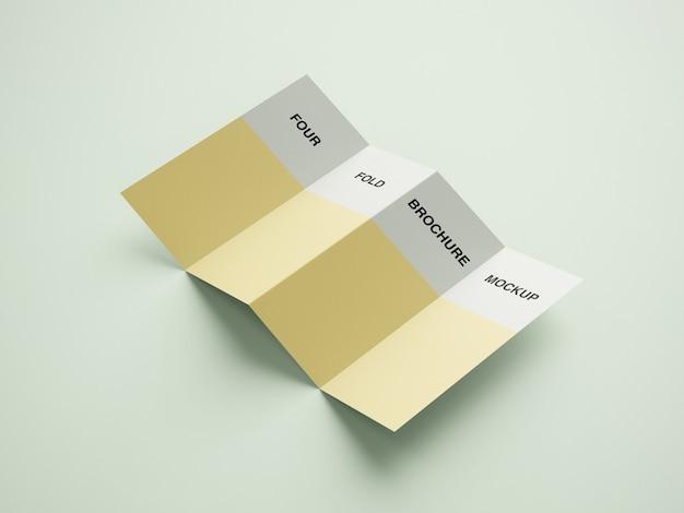 Modello di brochure mockup di quattro volte