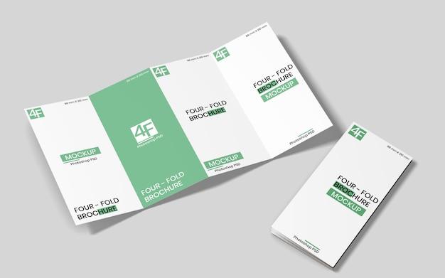 Mockup brochure quadruplo