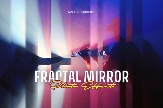 Effetto fotografico di distorsione a specchio frattale