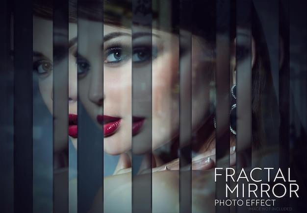 Effetto foto a specchio frattale mockup