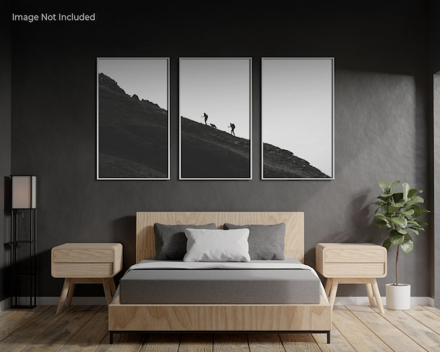 Modello di cornice in camera da letto