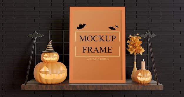 Cornice mockup edizione halloween con colore regolabile
