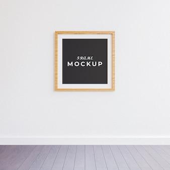 Mockup di cornice nell'interno del soggiorno